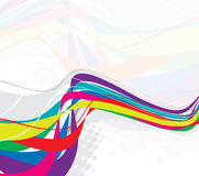 Abstract rainbow wave line. With space of your text, illustration Royalty Free Illustration