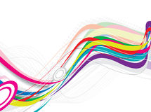 Abstract rainbow wave line Royalty Free Stock Photography