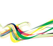 Abstract rainbow wave line Stock Photography
