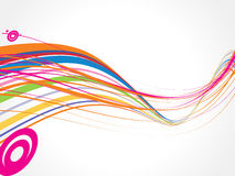 Abstract rainbow wave line background. Vector illustration Stock Image
