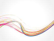 Abstract rainbow wave line background. Vector illustration Stock Photography