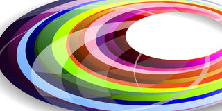 Abstract rainbow wave lines. Abstract rainbow wave line with sample text background royalty free illustration