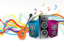 Abstract rainbow wave with musical sound. Vector illustration Royalty Free Stock Photo