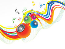 Abstract rainbow wave with sound. Vector illustration Stock Photos