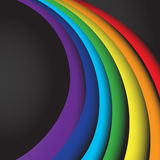 Abstract rainbow wave on a space background. EPS10 Royalty Free Stock Photos