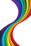 Abstract rainbow wave on a space background. EPS10 Stock Photography