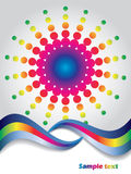 Abstract rainbow with waves and dots Royalty Free Stock Image
