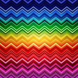 Abstract rainbow zig-zag warped stripes ethnic Royalty Free Stock Images