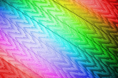 Abstract rainbow zigzag textile closeup, texture,. Focus on center. abstract rainbow zigzag textile closeup, texture details Royalty Free Stock Photo