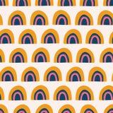 Abstract rainbows seamless vector pattern. royalty free illustration