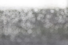 Abstract raindrop and bokeh on windshield, blur ,white backgroun Stock Photo