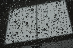 Abstract raindrop window Stock Photography