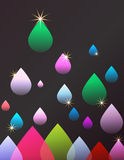Abstract Raindrops Background Stock Image