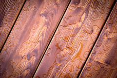 Abstract raindrops pattern on wooden board. Background royalty free stock photos
