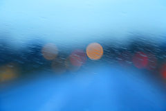 Abstract rainy car window Royalty Free Stock Images