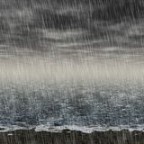 Abstract rainy landscape generated hires background Stock Photography