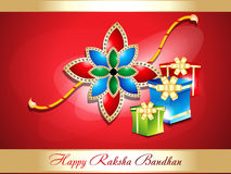 Abstract raksha bandhan background with gifts Stock Photography