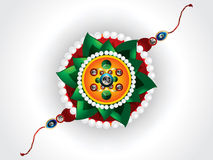 Abstract raksha bandhan background with rakhi. Vector illustration Royalty Free Stock Photography