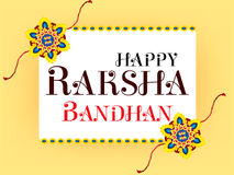 Abstract Raksha Bandhan Celebration Background Stock Afbeelding
