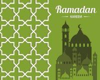 Abstract `Ramadan Kareem` illustration for Islamic celebration Royalty Free Stock Images