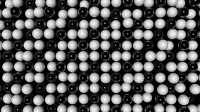 Abstract random animated background with black and white spheres stock footage