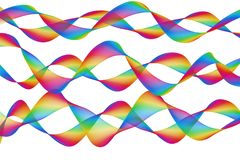 Abstract colourful waves background design illustration. Abstract random colourful waves background design illustration Stock Image