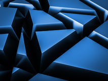 Abstract random cut shape metallic background blue color Stock Photo