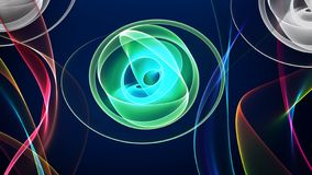 Abstract Random Shapes Color Background royalty free illustration