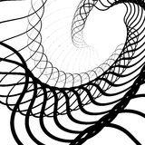 Abstract random squiggly, spirally lines. Swirling, rotating lin Royalty Free Stock Photo