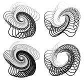 Abstract random squiggly, spirally lines. Swirling, rotating lin Stock Images