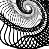 Abstract random squiggly, spirally lines. Swirling, rotating lin Stock Photos