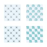 Abstract Random Tile of Pastel Blue Colors of Various Tones and Saturation. Stock Photo