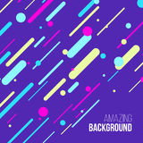 Abstract randomly lined colorful background. Vector illustration. Stock Photography