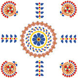 Abstract rangoli design Royalty Free Stock Photography