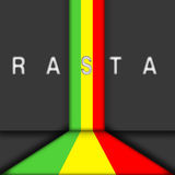 Abstract rasta stripe Stock Photo