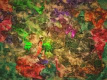 Abstract raster decorative grunge background, with chaotic smears and blurry of paint on textured canvas. Abstract raster decorative grunge background, with Stock Illustration