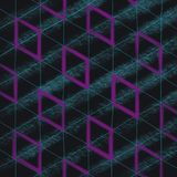Abstract raster illustration of rhombuses and lines stock illustration