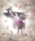 Abstract raven poser Royalty Free Stock Photo