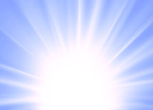 Abstract ray background blue Stock Image