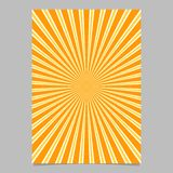 Abstract ray burst stationery background template - vector document background illustration. With radial stripe pattern stock illustration