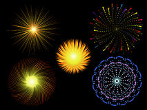 Abstract ray of light. Brilliant ray of light patterns like fireworks Royalty Free Stock Images