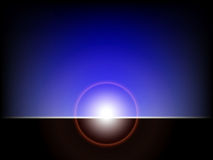 Abstract ray of lights over dark Royalty Free Stock Photo