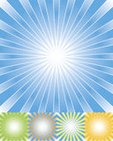Abstract rays background set cmyk. Radial background in five color sets,sunburst stock illustration