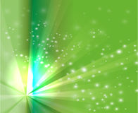 Abstract rays burst light on green background Stock Image