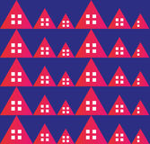 Abstract real estate red pattern. Real estate red pattern on blue background Stock Photo