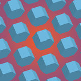 Abstract realistic 3d hexagon. Vector abstract realistic 3d hexagon creative background Royalty Free Stock Photography