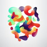 Abstract fluid geometric shapes vector background. Abstract realistic geometric shapes on white vector background Royalty Free Illustration