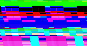 Abstract realistic screen glitch flickering, analog vintage TV signal with bad interference, static noise background stock video footage