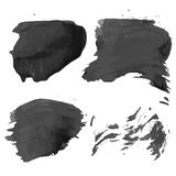 Abstract realistic smears black ink Stock Photo