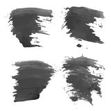 Abstract realistic smears black ink Royalty Free Stock Photo